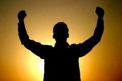 Expressando o sucesso Fotografia de Stock Royalty Free