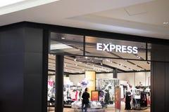 Expresse a parte dianteira da loja imagens de stock royalty free