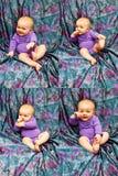 Expressões do infante Imagens de Stock Royalty Free