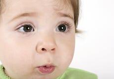 Expressief babygezicht stock fotografie