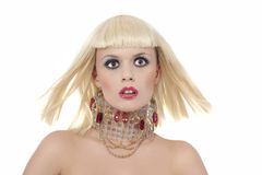 Expressief blond meisje Royalty-vrije Stock Fotografie
