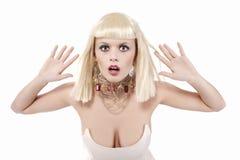 Expressief blond meisje Royalty-vrije Stock Afbeelding