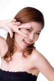 Expressief gelukkig meisje Stock Foto's