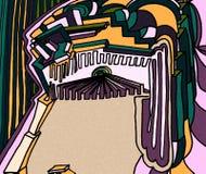 Expressief oog Heel wat kleuren en Geometrische details royalty-vrije illustratie