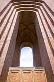 Expressieve baksteenarchitectuur, Toren in Burg, Spreewald Royalty-vrije Stock Fotografie