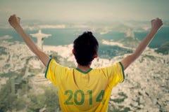 Expressieve Braziliaanse ventilators royalty-vrije stock fotografie