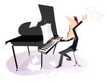 Expressieve componist stock illustratie