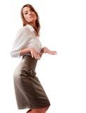Expressieve dans van jonge dame. Stock Foto