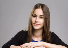 Expressieve jonge schoonheid. Stock Fotografie