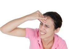 Expressieve Vrouw Stock Foto