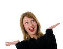 Expressieve vrouw Stock Fotografie