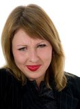 Expressieve vrouw royalty-vrije stock fotografie