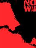 Expressieve zwarte en rode affiche Geen oorlog in grungestijl Vector illustratie Stock Afbeelding
