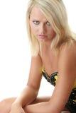 Expressing sadness woman Royalty Free Stock Photos