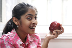 Expression of Beautiful indian girl indoor Stock Photography