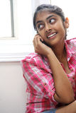Expression of Beautiful indian girl indoor Royalty Free Stock Images
