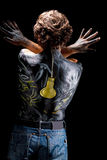 Expression with bodyart Stock Photography
