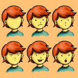 Expression Boy Character Stock Images