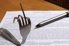 Expression Of Contract Agreement Stock Image