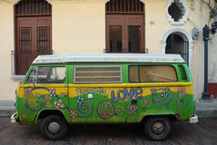Expression d'amour. Hippie Van Photo libre de droits