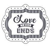 Expression d'attitude au sujet de l'amour à l'intérieur de la conception de cadre Photos stock