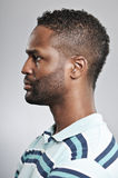 Expression de blanc de profil d'homme d'Afro-américain Photographie stock
