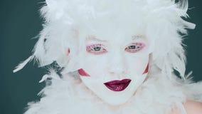 Expression de femme de clown banque de vidéos