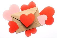 Expression de l'amour dans une lettre Photo libre de droits