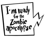 Expression de Word pour prêt pour l'apocalypse de zombi Images stock