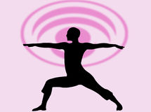 Expression de yoga illustration libre de droits