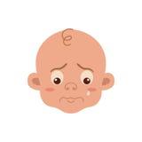 Expression du visage de bébé illustration libre de droits