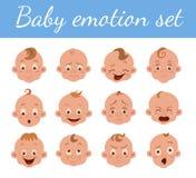 Expression du visage de bébé illustration stock