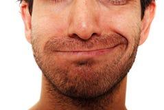 Expression faciale sarcastique Photographie stock libre de droits