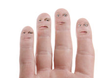 Expression fingers Royalty Free Stock Photos