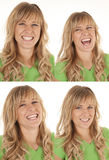 Expression green laugh Royalty Free Stock Photography