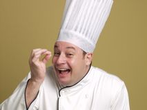 Expression of happy chef Royalty Free Stock Photo