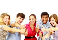 Expression heureuse de types et de filles Images stock