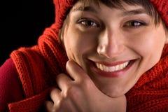 Expression heureuse de visage - sourire honnête Image libre de droits