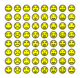 Expression icon. Design elements: icons, smileys, vector illustration, symbols Royalty Free Stock Photo