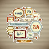 Expression icons. Over vintage background  vector illustration Royalty Free Stock Image