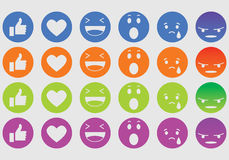 Expression icons Stock Images