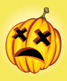 Expression pumpkin. Expression scared pumpkin vector illustration Royalty Free Stock Images