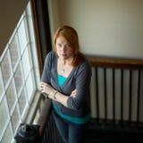 Expression sérieuse de femme Photographie stock libre de droits