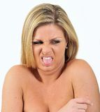Expression Series - disgust Stock Images