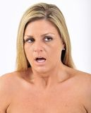 Expression Series - frightened stock image