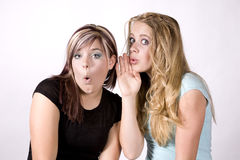 Expression two girls secret Royalty Free Stock Images