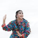 Expression woman dance - dancer Koryak Folk Dance Ensemble Angt. Russia, Kamchatka Stock Photos