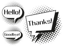 Expression words on speech bubbles Stock Photo