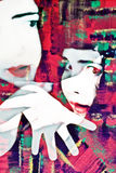 Expressionist-Pantomime-Konzept Stockbilder