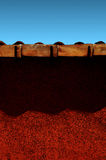 Expressionist Red Wall [01] Stock Photography
